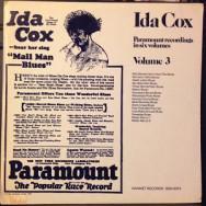Ida Cox - Paramount Recordings in six Volumes, Volume 3